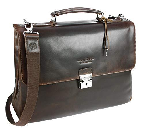 Bugatti Romano Aktentasche medium, Laptoptasche aus echtem Leder, Businesstasche 11
