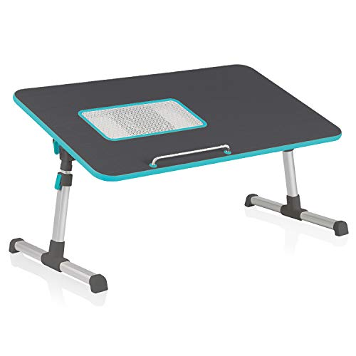 Instago Laptop Laptop Table, Portable Notebook Stand,Adjustable Angle and Height Laptop Desk,Sofa/bed Side Table, Standing Desk Riser, Computer Table for Sofa, Couch and Floor (Black)