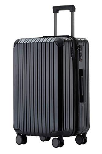 Münicase M816 TSA-Schloß Koffer Reisekoffer Trolley Kofferset Hardschale Boardcase Handgepäck (Schwarz, Mittler Koffer)