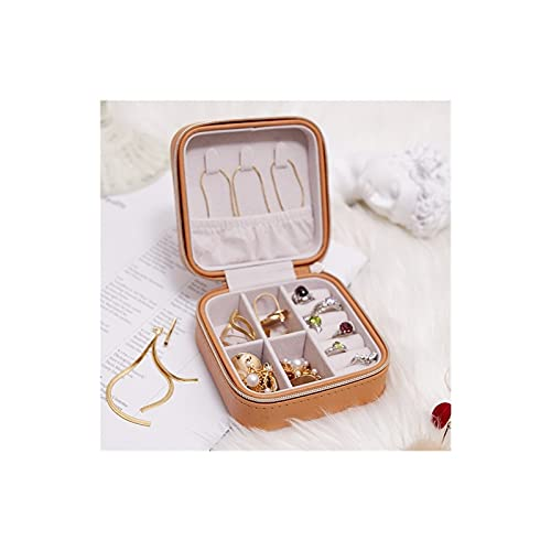 HRTJRS Caja Joyero 10 * 10 * 5 cm Caja de joyería portátil Organizador de joyería Display Pantalla Joyería de Viaje Cajas de Caja de Cuero Almacenamiento Joyeros Organizador de Joyas Cofres