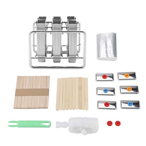 oueaen Regal, Edelstahlformen EIS Industrie Home Küche DIY Ice Pop Mould Maker Tool(2#)