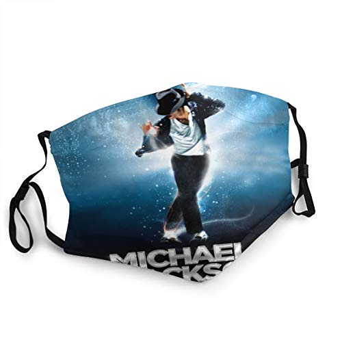 Michael Jackson Gesichtsmaske, wiederverwendbar, Stoff-Gesichtsmasken, waschbar, Bandana Gesichtsmaske, Sonnenstaubschutz, Sturmhaube, Schal zum Angeln und Radfahren