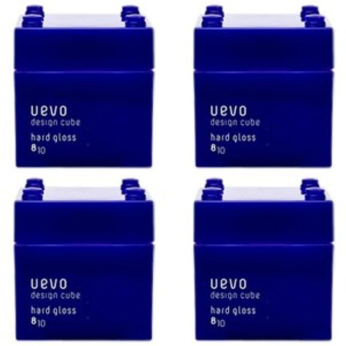松放棄ビクター【X4個セット】 デミ ウェーボ デザインキューブ ハードグロス 80g hard gloss DEMI uevo design cube