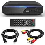 ミニDVDプレーヤー 1080Pサポート HDMI AV端子搭載「ケーブル付き」 CPRM対応、DVD/CD再生専用モデル USB、テレビ/プロジェクター接続可能、日本語取扱説明書