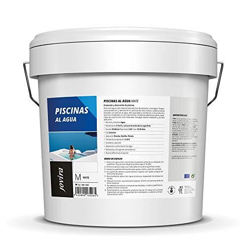 PINTURA PISCINAS AL AGUA, Protección y decoración de piscinas. (20 kg, AZUL)