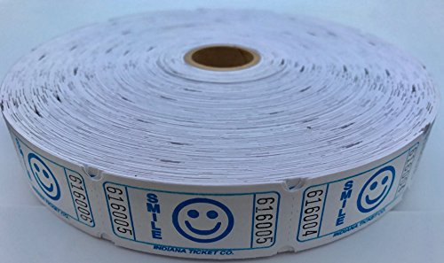 2000 Smile Single Roll Consecutively Numbered Raffle Tickets … (Blueberry)