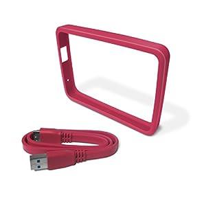 Western Digital WDBFMT0000NPM-EASN - Funda de disco duro para My Passport Ultra (incluye cable USB 3.0) color rosa