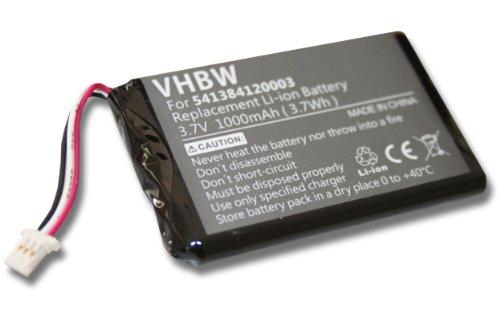 vhbw Akku passend für Navigon 42 Live, 72 Live, 92 Easy, 92 Live, 72 Easy, 72 Plus Live GPS Navigation Navi (1000mAh, 3,7V, Li-Ion)