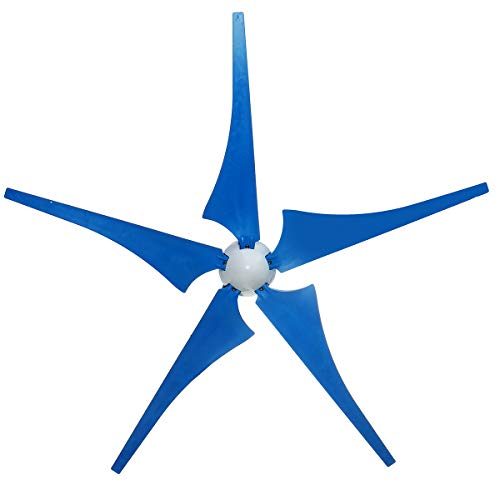 SISHUINIANHUA 2 kW / 3 kW 12V Wind Turbinen-Generator Alternative-Energie-Generator Wind-Generator 5 Blades Motor Kit mit Ladereglern,2000w