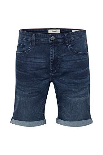 Blend Bendigo Herren Jeans Shorts Kurze Denim Hose elastisches Material mit Stretchanteil Slim Fit, Größe:M, Farbe:Denim Darkblue (76207)