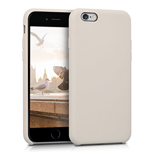 kwmobile Hülle für Apple iPhone 6 / 6S - Handyhülle gummiert - Handy Hülle in Beige matt