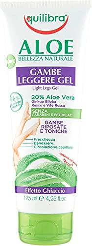 Equilibra Corpo, Aloe Gambe Leggere Gel, Gel Fresco a Base di Aloe Vera, Effetto Ghiaccio,...