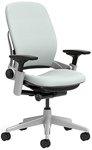 Steelcase Leap Chair with Platinum Base & Hard Floor Caster, Alpine -