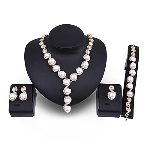 YZYZ Pendientes De Collar De Perlas Exquisitos Vendedores Calientes De Europa Y América, Conjunto De Fiesta Nupcial, Joyería De Moda