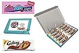VIMIX - Barra de chocolate para galaxia de color naranja suave, 10 x 42 g, 1 paquete gratis Sweetarts Cherry Punch Cuerdas 51 g