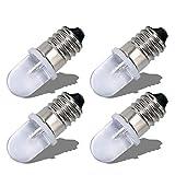 Ruiandsion E10 Bombilla LED 220V 230V AC Base de tornillo Luz indicadora LED de ahorro de energía Base E10 Bombilla LED de actualización, Blanco (Paquete de 4)