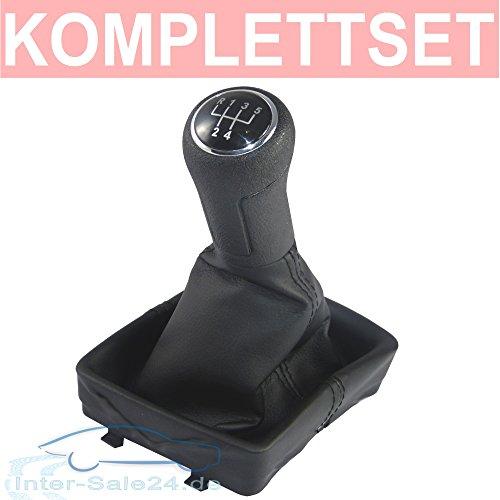 L & P Car Design L&P A255 Schaltsack Schaltmanschette Schwarz Naht Schwarz Schaltknauf Rahmen 5 Gang kompatibel mit VW Polo 9N 9N2 9N3 4 IV Plug Play Ersatzteil für 6Q1711113
