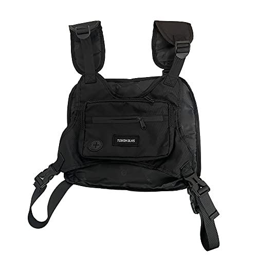 Faletony Tactical Chest Rig Tasche Radio Walkie Talkie Brusttasche Diebstahl-sicher Brusttasche für Outdoor Sport Jogging Trainning Fitness