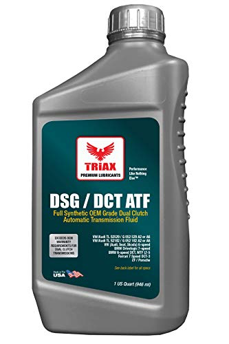 Triax DSG/DCT ATF Dual Clutch Full Synthetic, Lifetime Fill, for All Dual Clutch Transmissions, High Performance Speed Shift with SureShift No Slip Additive (1 Quart)