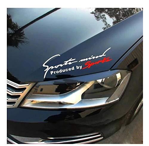 MDGCYDR Automóviles Pegatinas Letra Pegatinas De Coche Emblema De Coche De Carreras Insignia Calcomanía Auto Automóvil Capó Pegatina Estilo De Coche