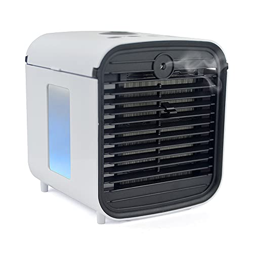 STAYCOOL Arctic Blast Personal Air Cooler V2 - USB Powered Humidifier Fan With Colour Changing LED Night Light Water Tank – 3 Speed Settings – Atomiser Diffuser - White – F9002WH