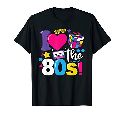 I Love The 80s Cassette, Rubik's Cube T-shirt - S to 3XL