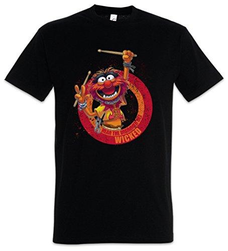 Urban Backwoods Wicked Drummer Herren T-Shirt Schwarz Größe L