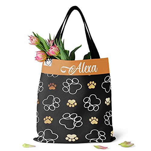 Personalized Name Tote Bag Dog