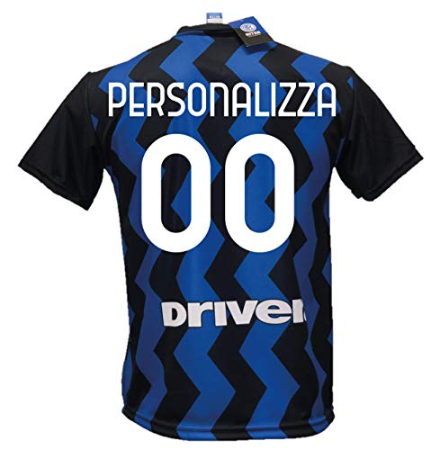 DND DI D'ANDOLFO CIRO Maglia Calcio Inter Personalizzabile Replica Autorizzata 2020-2021 Taglie da Bambino e Adulto. Personalizza con Il Tuo Nome o Il Nome del Tuo Giocatore Preferito (8 Anni)