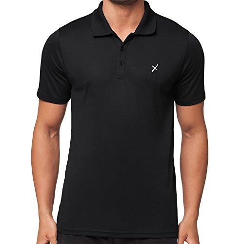 CFLEX Herren Sport Shirt Fitness Polo-Shirt Sportswear Collection - Schwarz XL