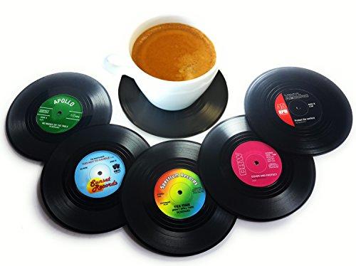 Vinyl Record Disc Coasters (Set of 6)