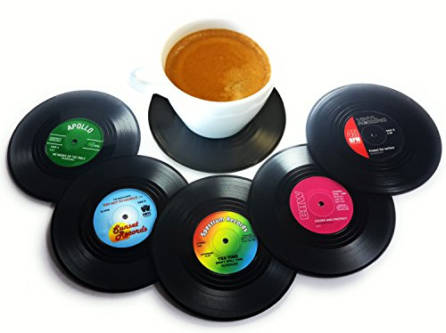 Vinyl Record Disc Coasters (Set of 6)