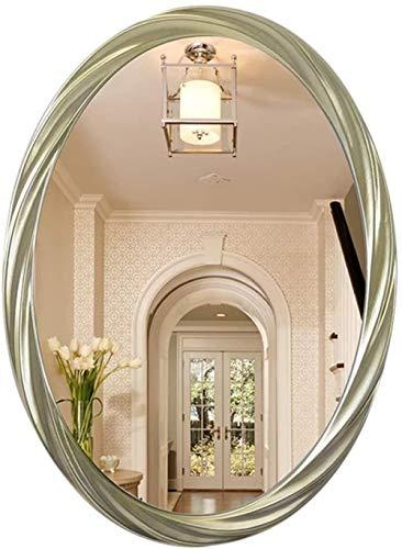 HFFFHA Spiegel - ovales Badezimmerhaus Wandwaschtisch Europäisch-Amerikanischer Waschtisch mit Bordüre