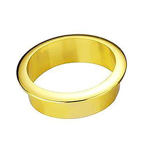 NLLeZ 1 UNID Table Table Table Outlet Outlet Cubierta Redondo Cubierta DE Cubierta para EL Titular DE Alambre del ESPERATOR DE LA PC (Color : Oro, tamaño : 45mm)