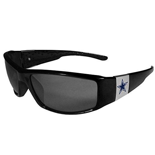 NFL Siskiyou Sports Fan Shop Dallas Cowboys Chrome Wrap Sunglasses One Size Black