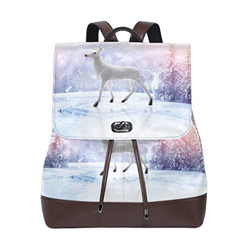 FAJRO Winter-Rucksack aus Elchleder, Weiß