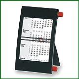 Walz 3-Monats-Tischkalender für 2020/2021, mit Drehmechanik, schwarz