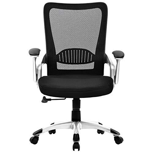 Belupai - Silla de oficina ajustable para respaldo de oficina, ergonómica, para escritorio, sillas de trabajo
