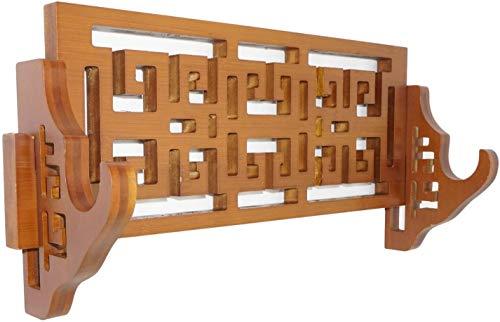 SQINAA Schwert Rahmenwandhalterung Bambus Samurai-Schwert Rahmen Hanger Samurai-Schwert Wakizashi Tanto Yuanji Bahnhof 1St Floor-Einfache Art