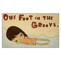 奈良美智ポスターポスター《溝の中の片足》漫画キャンバスウォールアートリビングルームのユニークな絵画とプリントインテリア写真60x100cmx1フレームなし