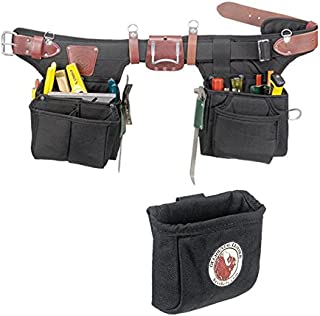 Occidental Leather 9540 Adjust-to-Fit Finisher Tool Belt Set Bundle w/ 9501 Clip-On Pouch (2 Pieces)