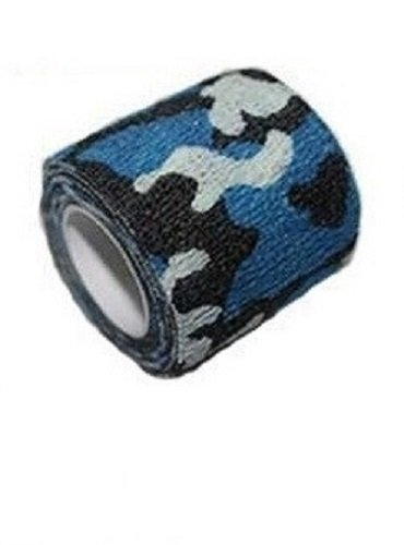 Kobert-Goods Tarnband an Sich selbst haftendes Klebeband Tape in Army Look Blau (in 6 verschiedenen erhältlich), selbsthaftendes Gewebeband Camouflage Army Outdoor Bundeswehr