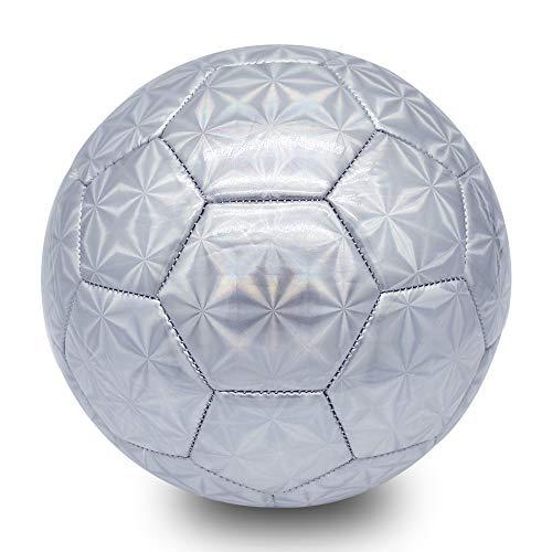 Champhox Fußball Größe 4 mit Pumpe, TPU Wasserdicht Sport Training Ball...