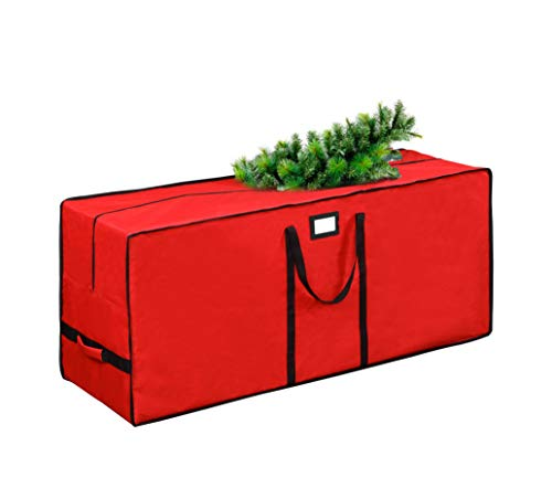 Tree Storage Bag, Waterproof Christmas Tree Storage, Fits Up to 9 ft Tall Artificial Disassembled Trees ,Extra Large Heavy Duty Storage Container with Handles (Red, 65'x15'x30')