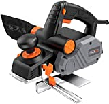 Planer, Electric Hand Planer, 85MM 900W 14500Rpm, with 3MM Adjustable Cut Depth, Dual
