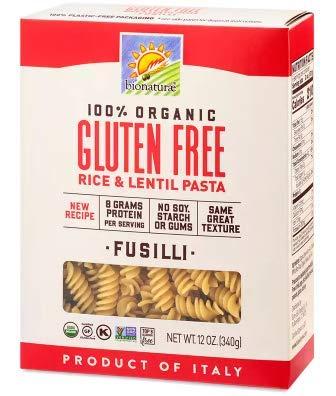 Bionaturae Pasta Gluten-Free Fusilli Organic Pasta (Pack of 4)