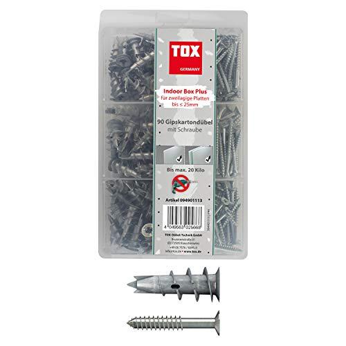 TOX Gipskartondübel - Sortiment Indoor Box Plus 180 tlg, 1 Stück, 094901113