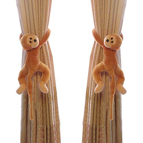 Wyi Vorhang-Raffhalter mit Cartoon-Motiv, Affe, Vorhanghalter, Plüschtier-Schnalle, Haken für Kinderzimmer,...