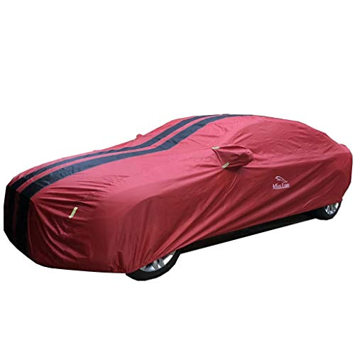 QARYYQ Car Cover, Awning Cover, Waterproof And UV-resistant Outdoor Car Clothing Suitable For JEEP JAGUAR Models Car cover (Color : Red, Size : Freeman)