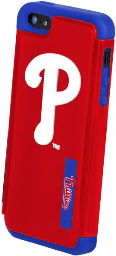 Forever Collectibles Philadelphia Phillies Rugged Dual Hybrid Apple iPhone 5 & 5S Case by Forever Collectibles